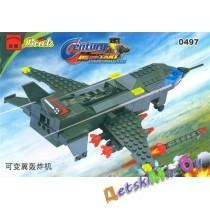 """Конструктор (Brick) """"Военный самолет"""""""